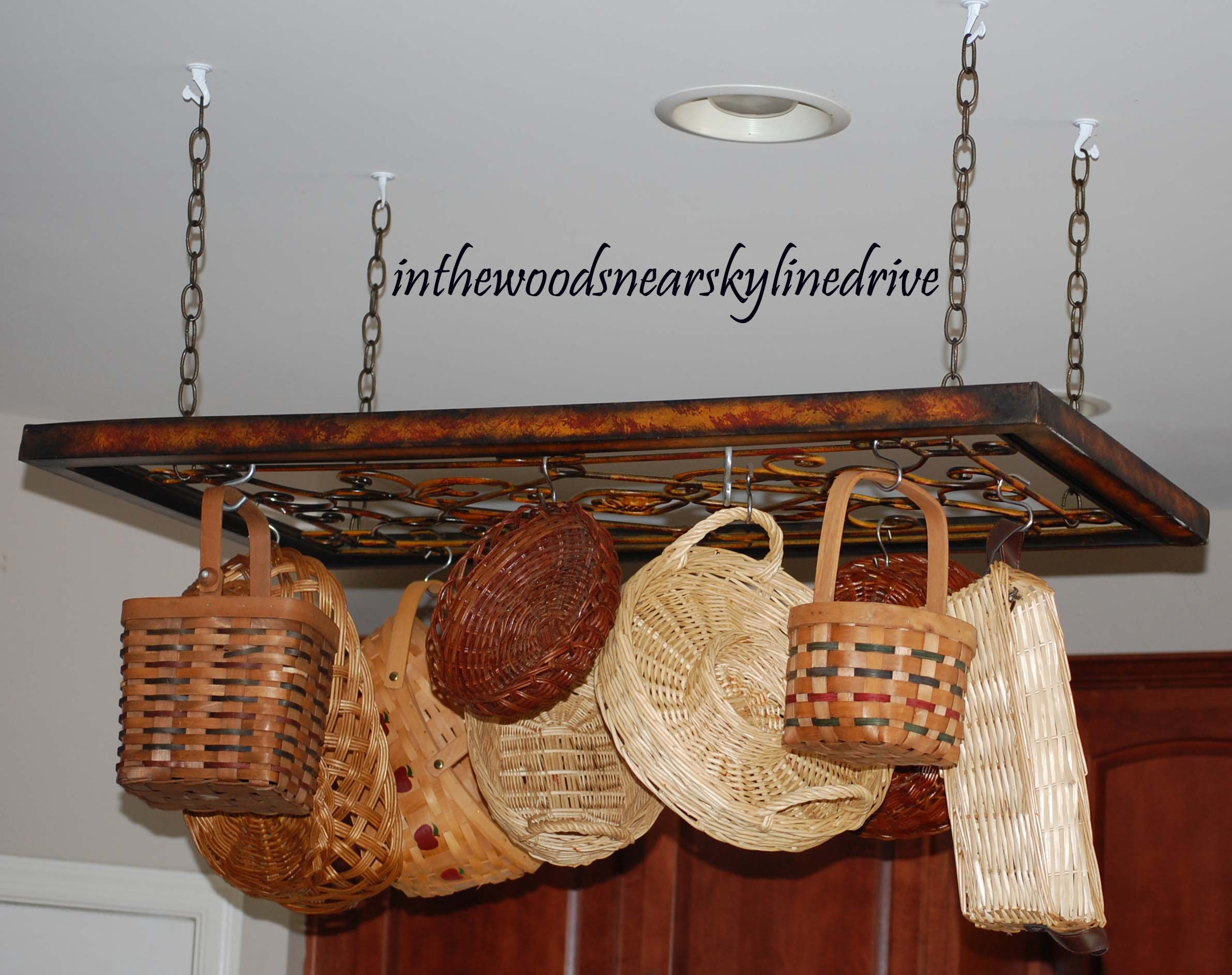 Creative Pot Rack Ideas and My Interpretation | In the Woods ...