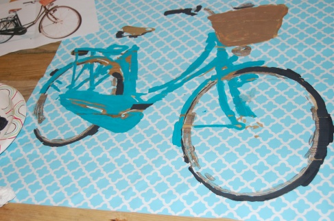 Bike Stencil with paint